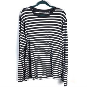 Vince Stripe Long Sleeve Knit Pullover Shirt